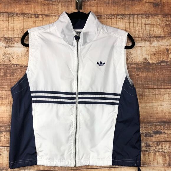 8b0098791197 adidas Jackets   Blazers - Vintage Adidas Trefoil Three Stripes Vest Sz. Med